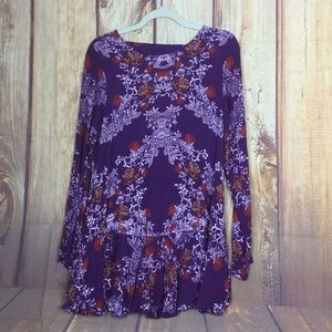 Free People Smooth Talker Open Back Cutout Tunic M